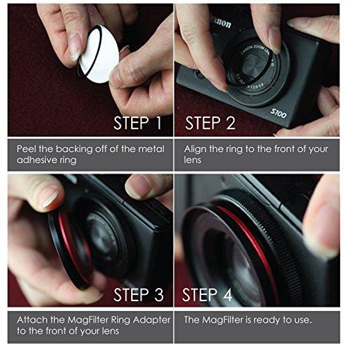 magfilter 55mm roscado adaptador anillo con portador bolsa p