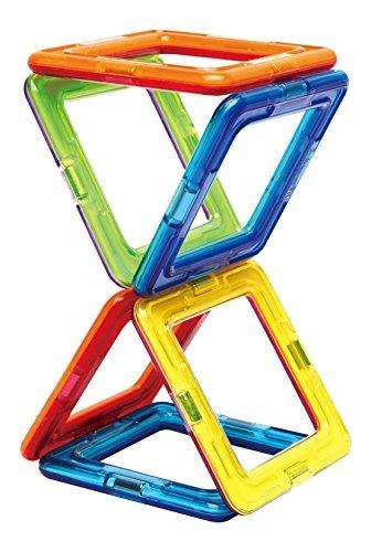 magformers square set (6 piezas) bloques de construcción mag