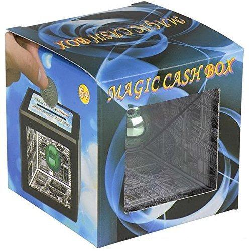 magic cash box coin bank - paquete de 4 - trucos de magia, f