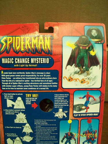 magic change mysterio with lightr up helmet spider man