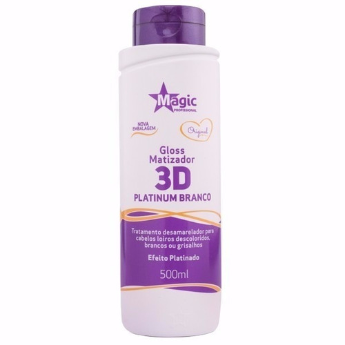 magic color 3d matiza platinum branco 500ml