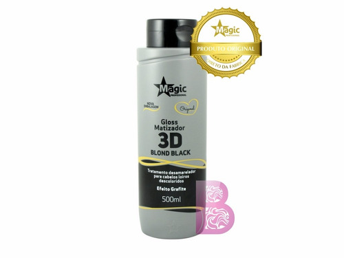 magic color blond black  efeito grafite (500ml)