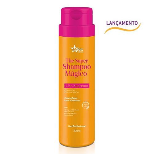 magic color the super shampoo mágico liso supremo 300ml