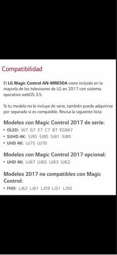 magic control remoto tv lg smart tv original mr650a tv