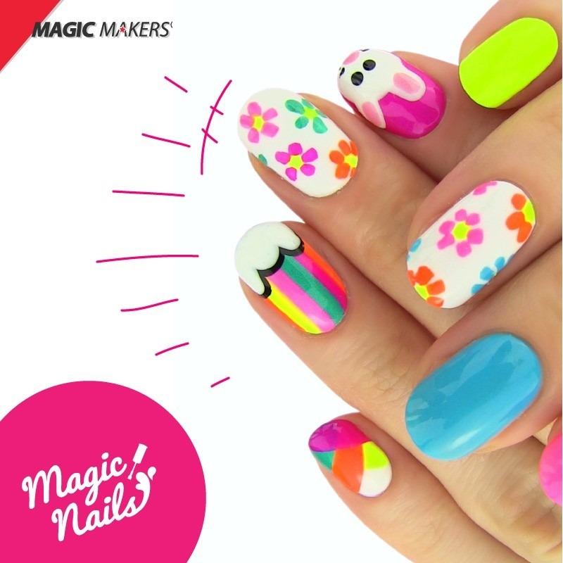 Magic Nails Summer Party 2 En 1 Esmaltes Decora Tus Uñas - $ 50.399 ...