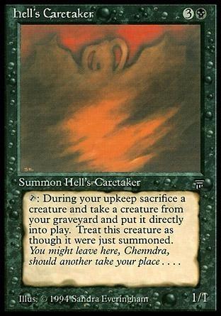 magic tcg  ( c03 ) vigia do inferno / hell's caretaker