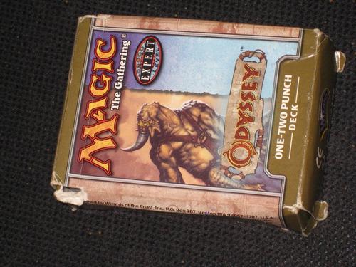 magic the gathering / odissey 1-2 punch deck tarjetas