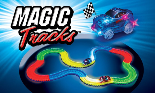 magic tracks 165 piezas pista magica flexible brilla carros