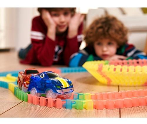 magic tracks - tevecompras pista de autos con encastre