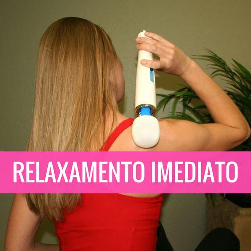 magic wand massageador 110v 220v elétrico vibrador rosa