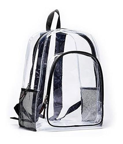 magicbags mochila de vinilo transparente resistente y transp