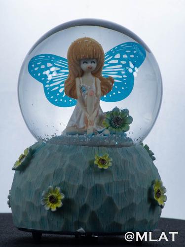 mágico globo de nieve musical hada celeste bebe.