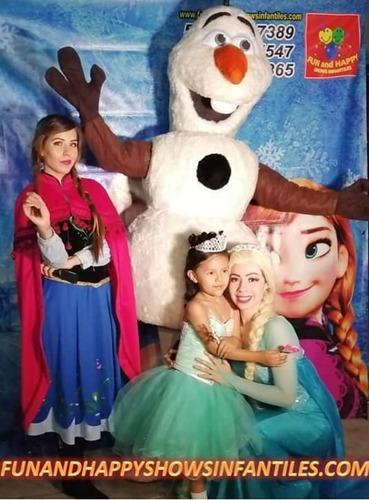 magico show infantil de frozen (elsa,anna,olaf) cdmx