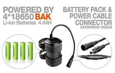 MagicShine MJ872RT 1600 LM Remote Control LED Front/&Tail Bike Light 6038 Battery