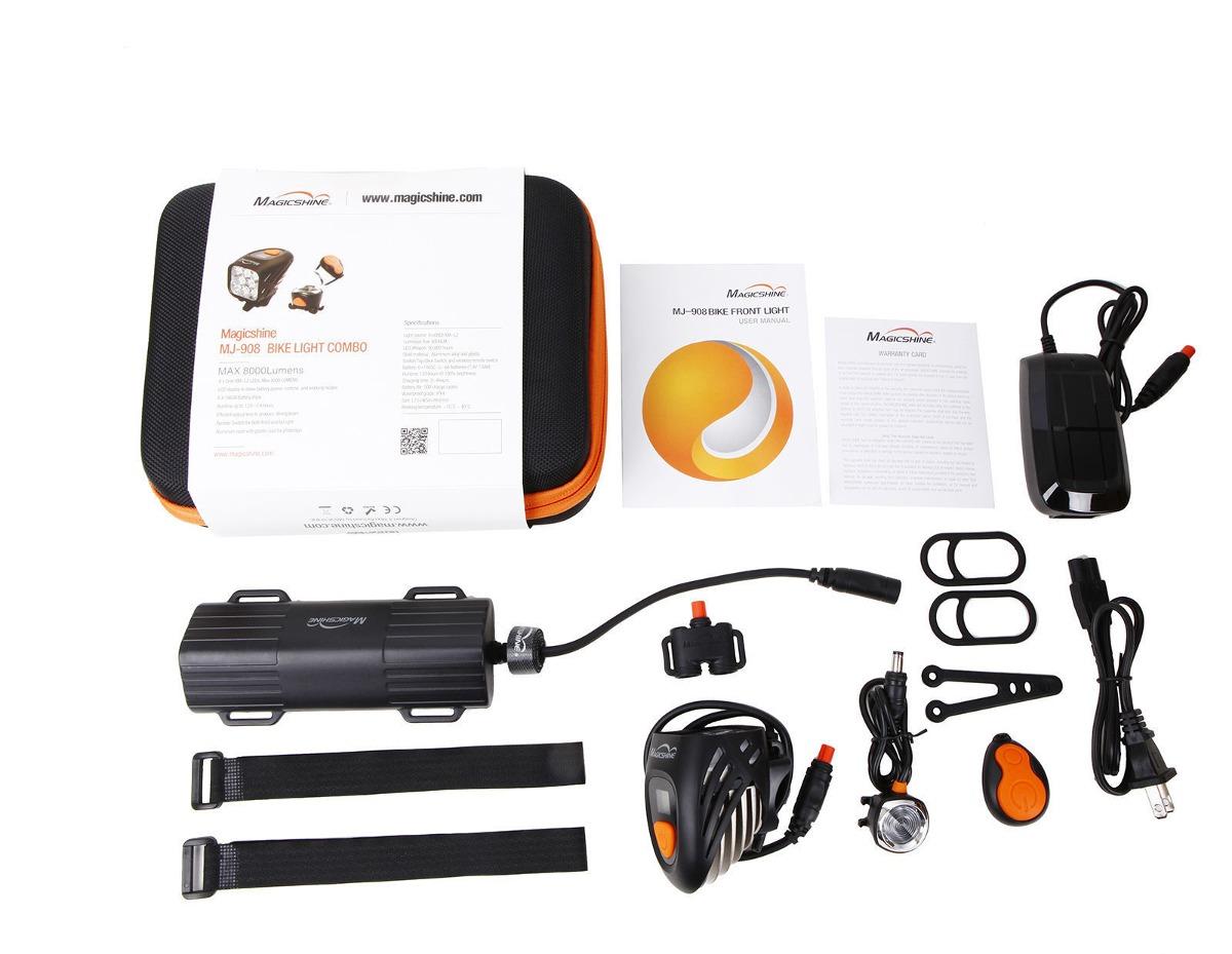 Magicshine MJ908 8000 lm cree led frontal y luz de la cola Bicicleta Combo//Pantalla Lcd