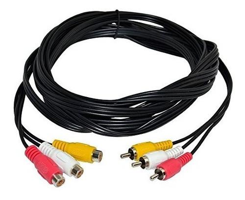 magicw 10 pies 3 rca macho a 3 extensión de vídeo rca cable