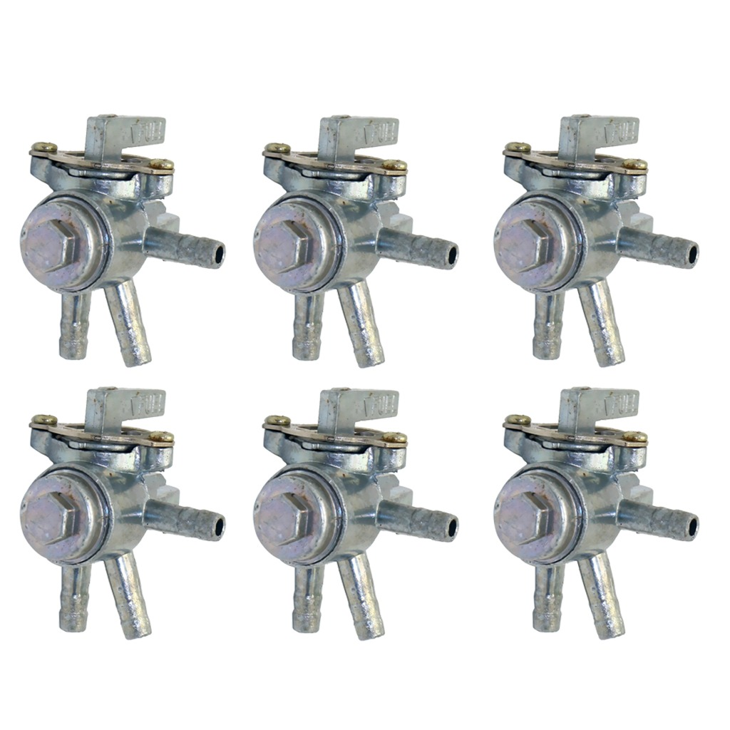Magideal 6pcs 3 Way Fuel Petcock Tap Valve Switches For Moto