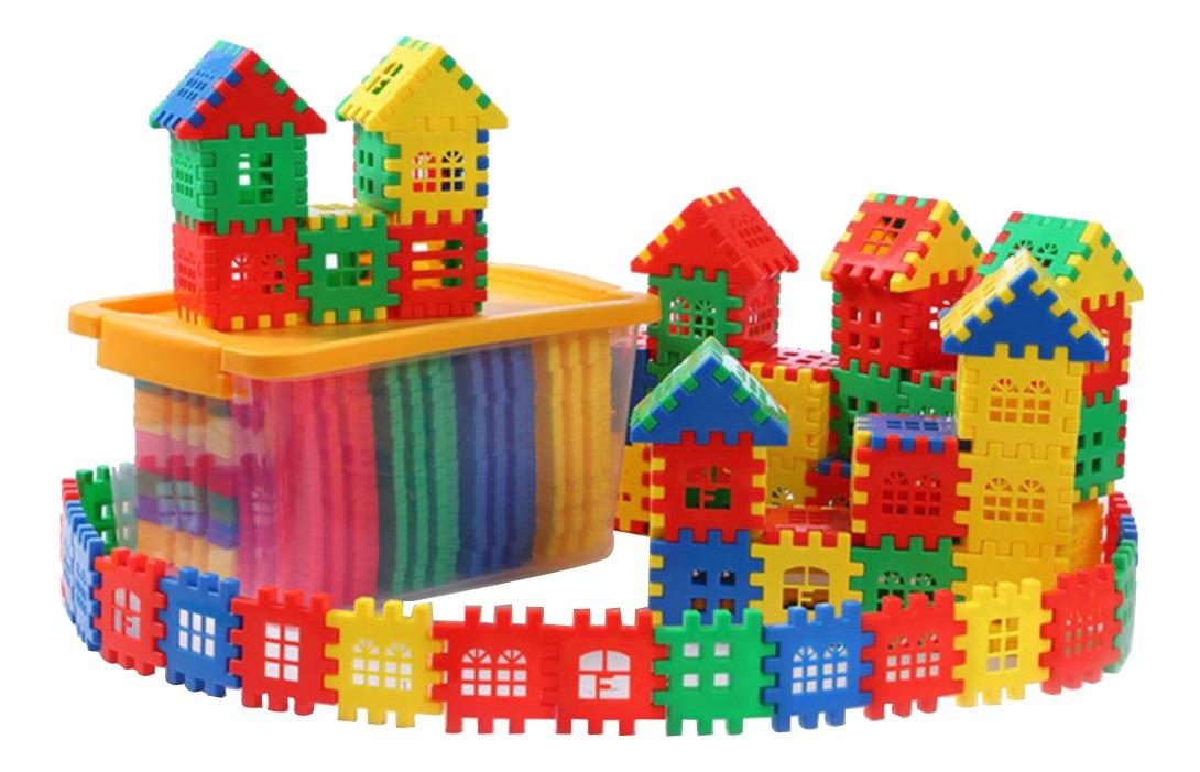 Magideal Peças Crianças Coloridas Casa Building Blocks Build