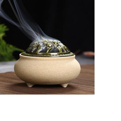 magideal retro aroma censer chapa fogão de cerâmico queimado