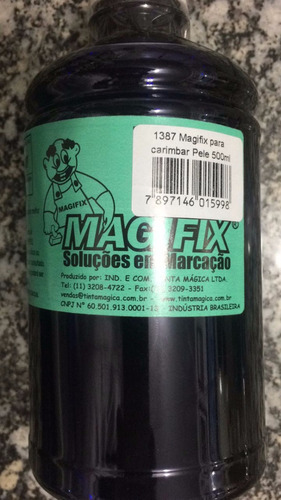 magifix tinta marcador para carimbar pele 500ml verde