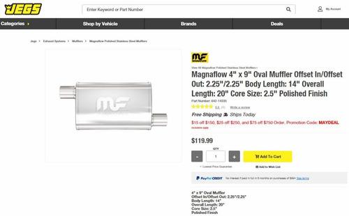 magnaflow 14335 silenciador de escape muffler made in usa