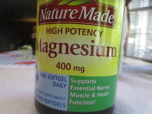 magnesio de 400 mg marca nature made contiene 150 undades