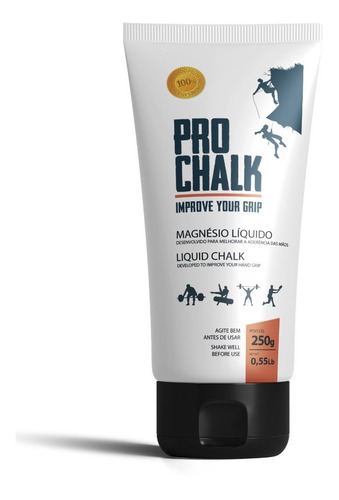 magnésio líquido pro chalk - liquid 250ml crossfit escalada