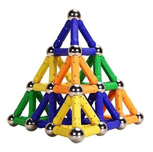 magnetic building sticks construction blocks 100 piezas jueg
