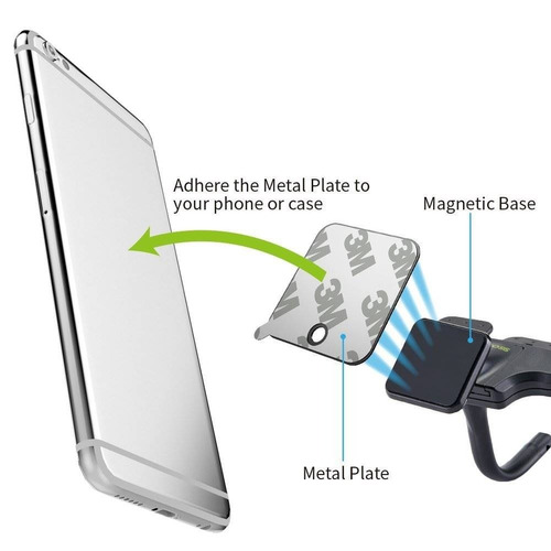 magnetic smartphone cd mount - ikross univers + envio gratis