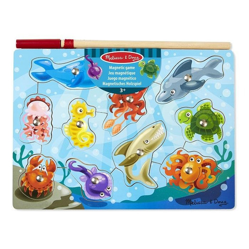 magnetic wooden game fishing