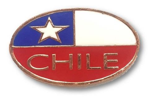 magnético bandera chile ovalado cobrizado