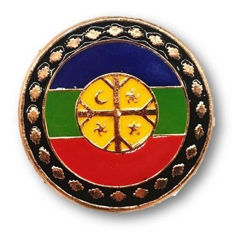 magnético bandera mapuche chile cobrizado