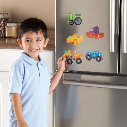 magnético de conteo de vehículos de puzzles