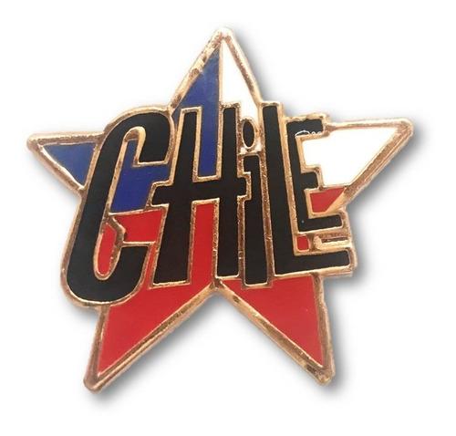 magnético estrella bandera chile cobrizado