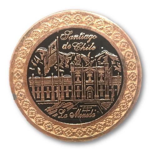 magnético la moneda santiago de chile cobrizado