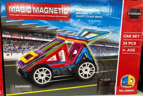 magnéticos 24/25 piezas autos ruedas pumy july toys