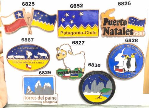 magnéticos chile 9 diseños cobrizados bandera mapa esc