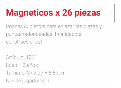 magnéticos imanes 26 piezas antex july toys