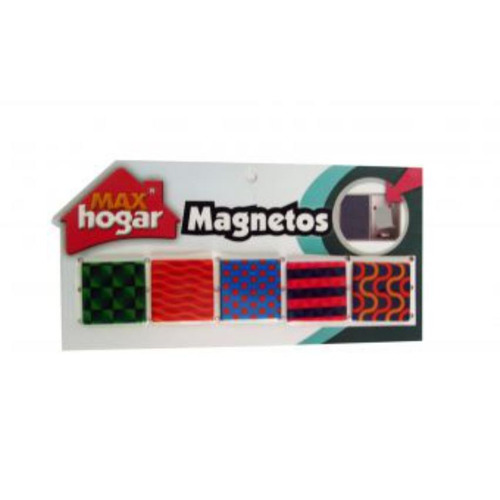 magnetos para nevera multicolor - max hogar - 18520003