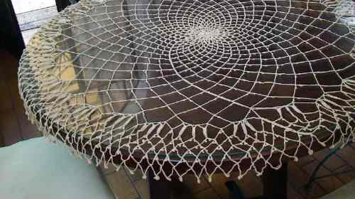 Magnífica Carpeta Antigua, Mantel Al Crochet!!! - $ 1.500,00 en ...
