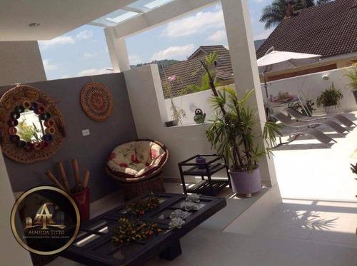 magnifica casa á venda no residencial 4 em santana de parnaíba - ca0410