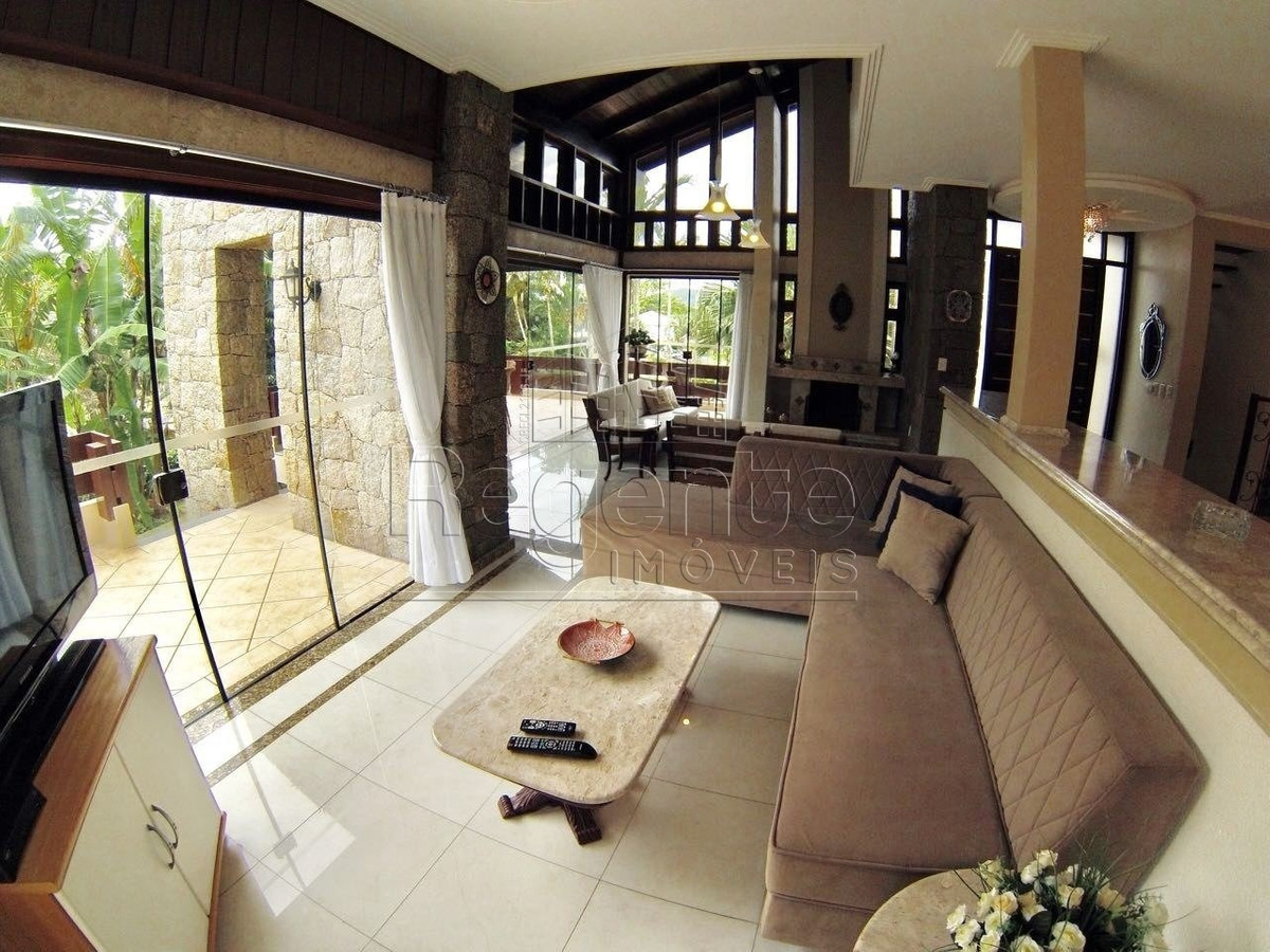 magnifica casa com 6 suites, pe na areia em jurere internacional, florianopolis - sc - l-80390