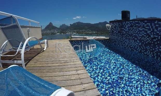 magnífica cobertura triplex na lagoa de 400m² com vistão para o cristo e lagoa. - 7422