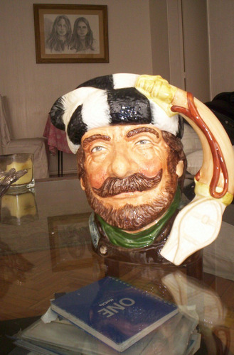 magnifica jarra royal doulton the trapper canadian large