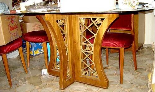 magnifica mesa de comedor diseño retro vintage minimlista 60