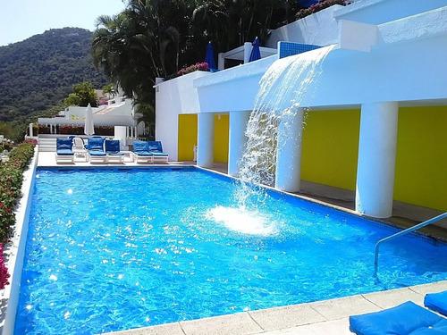 magnífica suite con vista panorámica de la bahía en acapulco