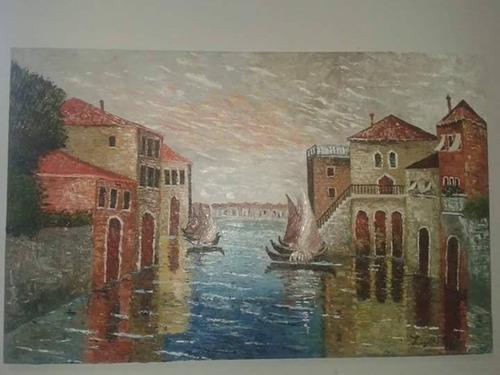 magnifico cuadro/pintura al oleo  venecia