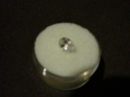magnifico diamante ruso blanco, corte pera, de 7x5 mm.