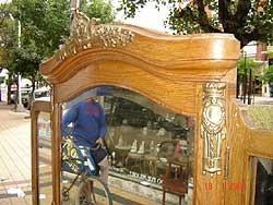 magnifico peinador toillette escritorio roble 1910 bisel brc
