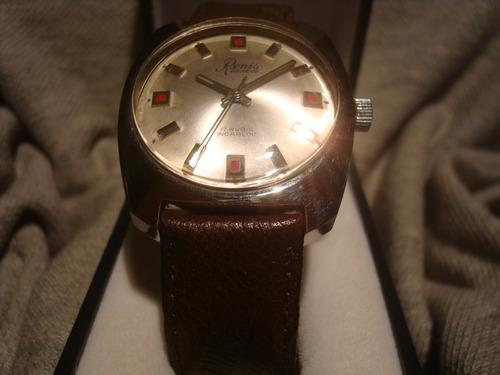 magnifico reloj renis 1970 c/maquina tissot 2451 new!! unico
